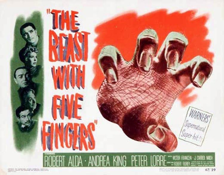 The Beast with Five Fingers World Music THE BEAST WITH FIVE FINGERS Warner Bros Pictures 1946