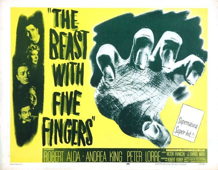 The Beast with Five Fingers The Beast with Five Fingers 1946 HORRORPEDIA