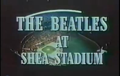 The Beatles at Shea Stadium movie scenes Opening title credits for the 1966 concert documentary