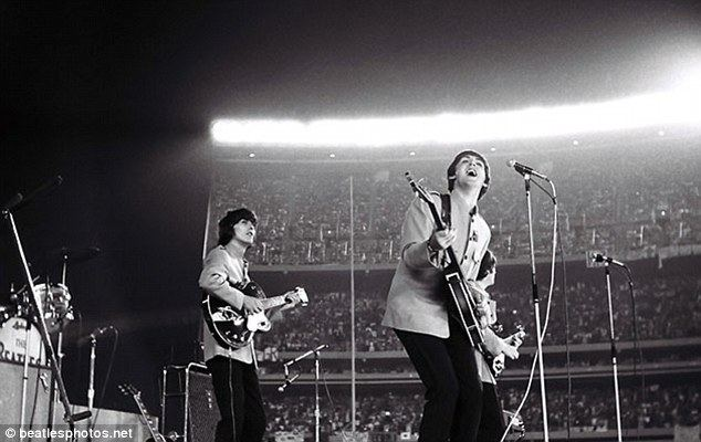 The Beatles at Shea Stadium movie scenes The auction on March 22 marks 50 years since the release of the band s first album