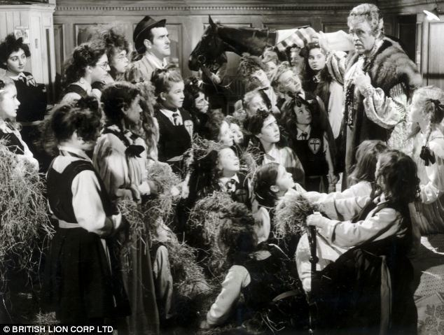 The Belles of St Trinians movie scenes A scene from the 1954 film The Belles of St Trinian s The school home