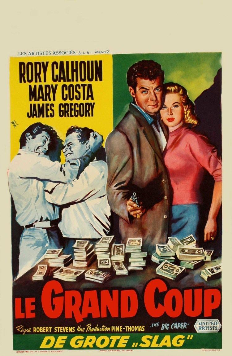 The Big Caper The Big Caper 1957 Belgian Poster Film Noir Crime