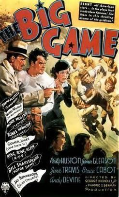 The Big Game (1936 film) movie poster