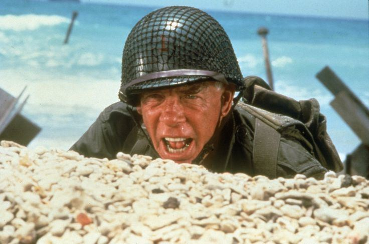 The Big Red One movie scenes The Big Red One 1980 Lee Marvin Mark Hamill Director Samuel Fuller Epic war film memorable scene on the beach at Normandy