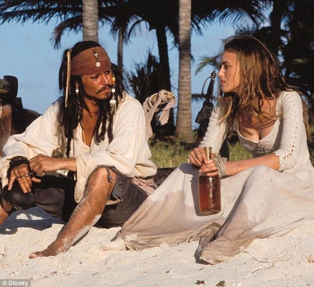The Black Pirate movie scenes A gem of a role Johnny featured alongside English rose Keira Knightley in the first