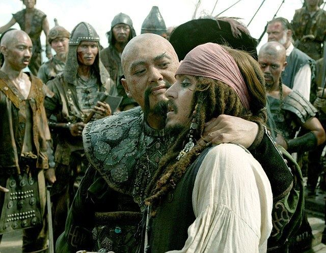 The Black Pirate movie scenes Walk the plank Johnny Depp filmed lots of memorable scenes on the ship for three