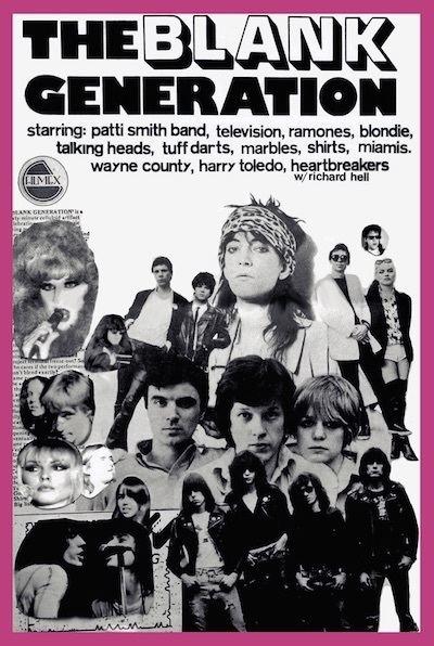 The Blank Generation BLANK GENERATION DVD 1976 PUNK MOVIE on DVD CBGBs Maxs Kansas