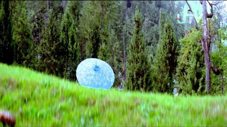 Blue Umbrella 2005 Bollywood Movie Scene Umbrella Disappeared