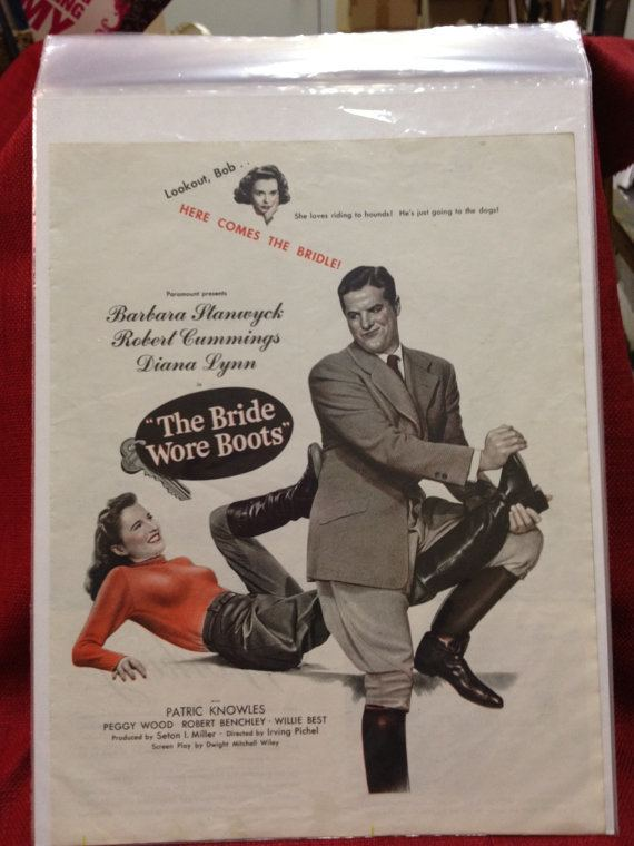 The Bride Wore Boots Movie The Bride Wore Boots Full Page Ad in June