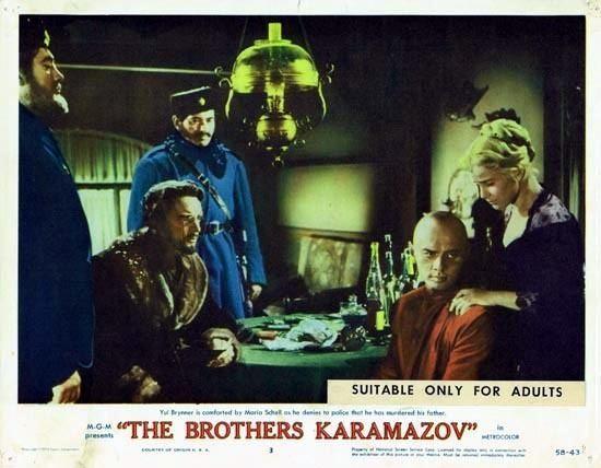 The Brothers Karamazov (1958 film) THE BROTHERS KARAMAZOV 1958 Lobby Card 3 Yul Brynner
