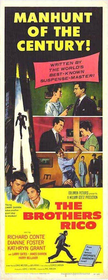 The Brothers Rico The Brothers Rico 1957 Poster 1 Trailer Addict