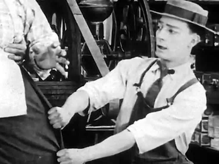 The Butcher Boy (1917 film) Buster Keaton at 21 making his first film The Butcher Boy 1917