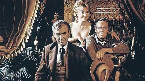 The Cheyenne Social Club The Cowboy Rides Away Jimmy Stewart Henry Fonda and The Cheyenne
