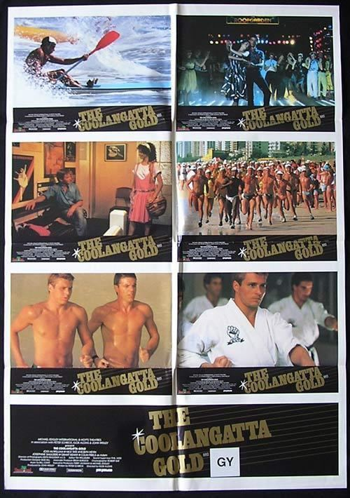 The Coolangatta Gold (film) COOLANGATTA GOLD 1984 Surfing Ironman Colin Friels RARE Photo sheet