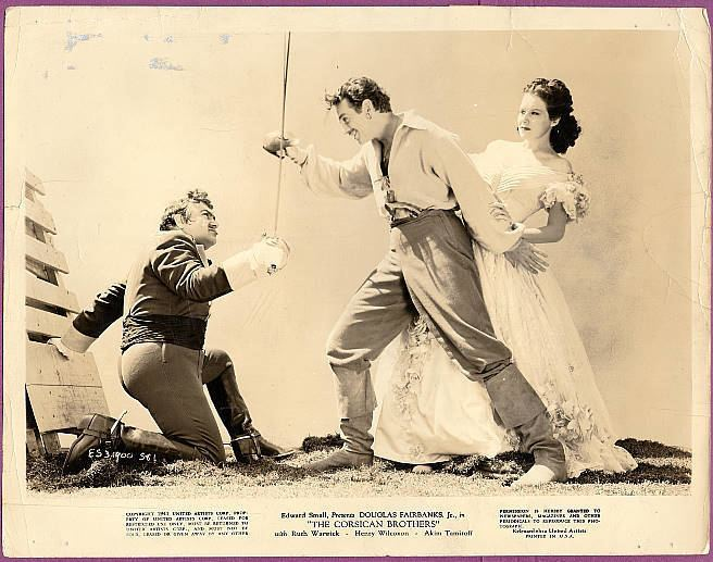 The Corsican Brothers (1941 film) Playles 1941 The Corsican Brothers Staring Douglas Fairbanks Jr