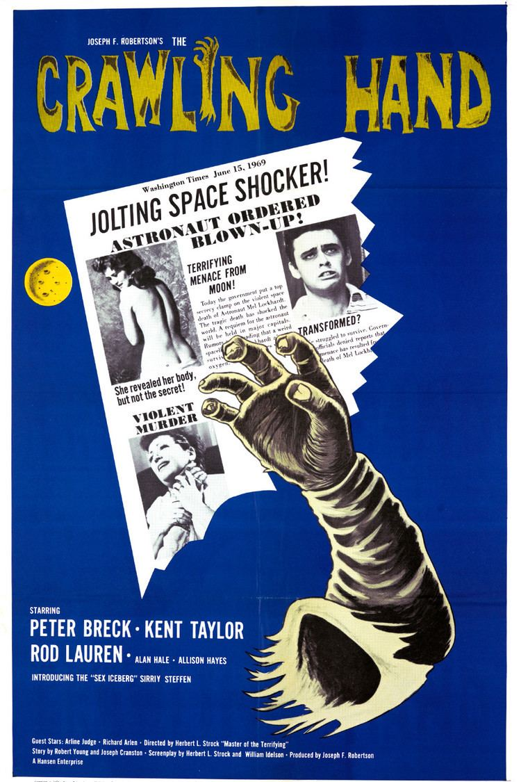 The Crawling Hand wwwgstaticcomtvthumbmovieposters39788p39788