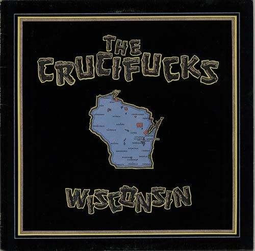 The Crucifucks The Crucifucks Wisconsin Yellow Vinyl UK vinyl LP album LP record