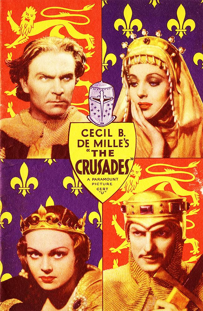 The Crusades (film) Cecil B DeMille Biblical and Historic Epics The Crusades