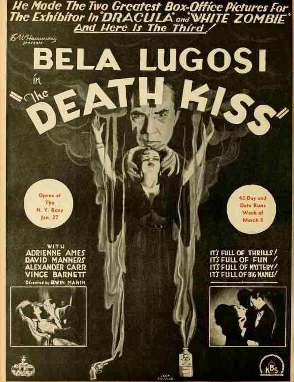 The Death Kiss Scott Lord Mystery Death Kiss 1932 starring Lugosi Manners and