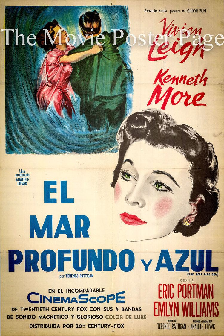 The Deep Blue Sea (1955 film) Movie Poster Collecting The Deep Blue Sea Kenneth More 1955