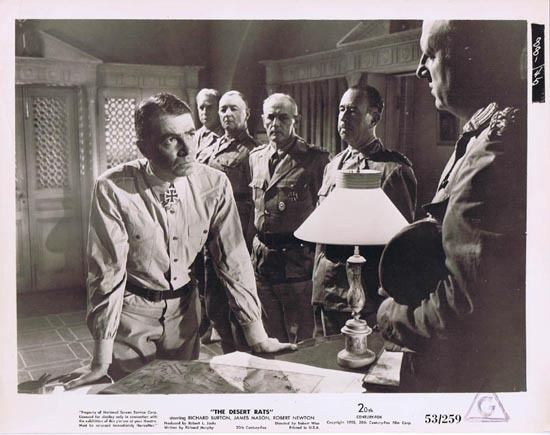 The Desert Rats (film) THE DESERT RATS 1953 Movie Still Photo 25 James Mason Rommel plots
