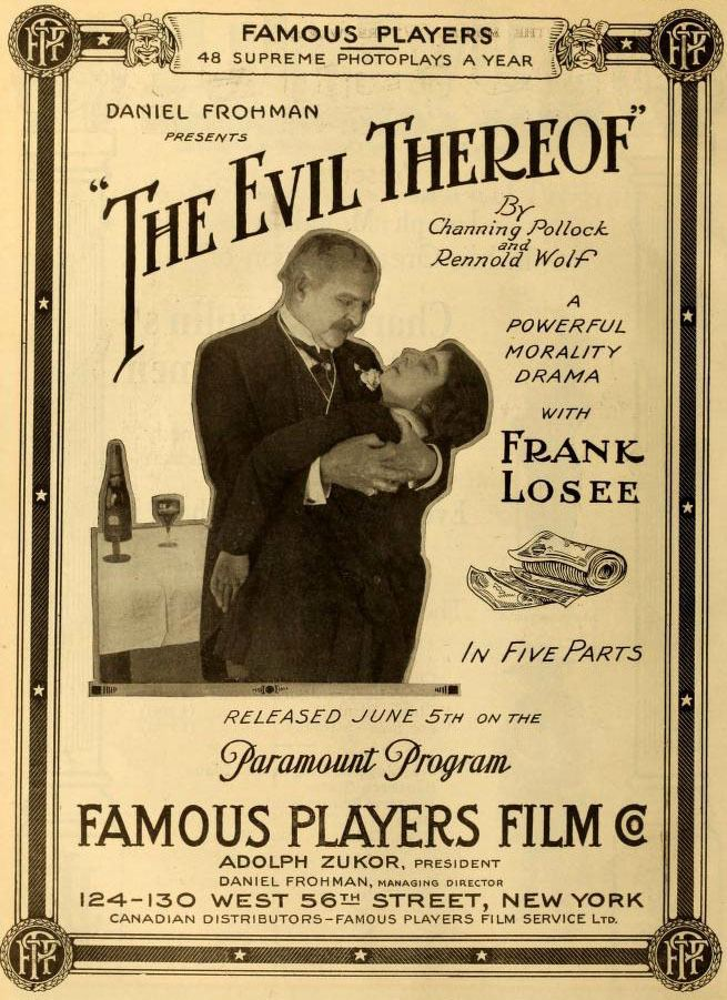 The Evil Thereof (1913 film) The Evil Thereof 1916 film Wikipedia