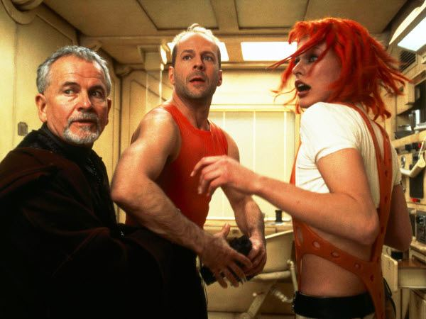 The Fifth Element movie scenes The Fifth Element Luc Besson s loud colorful cyberpunk science fiction classic showcases Bruce Willis when he was at the height of his coolness