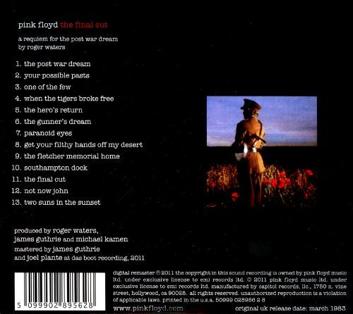 The Final Cut (1983 film) The Final Cut Pink Floyd Songs Reviews Credits AllMusic