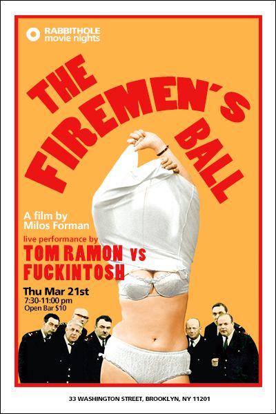 The Firemen's Ball Thu Mar 21st TOM RAMON vs FUCKINTOSH live The Firemens Ball