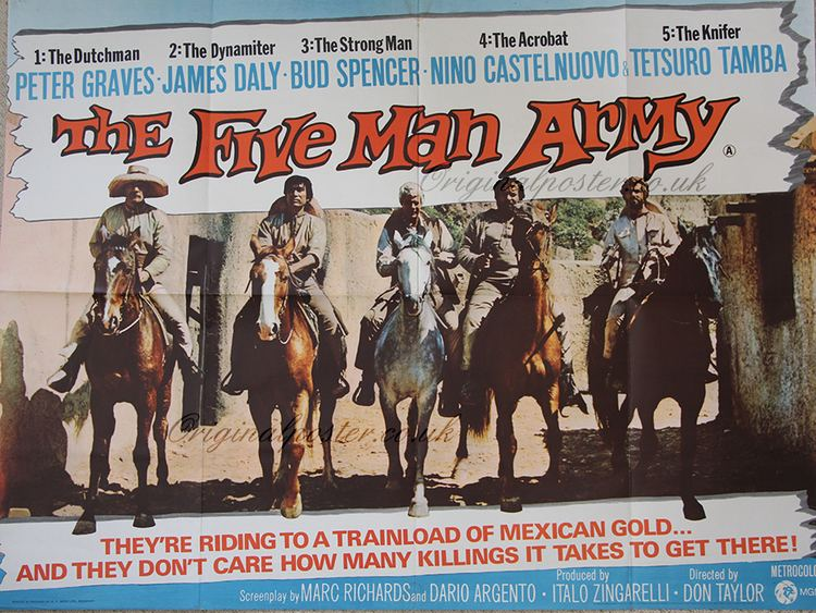 The Five Man Army The Five Man Army Original Vintage Film Poster Original Poster