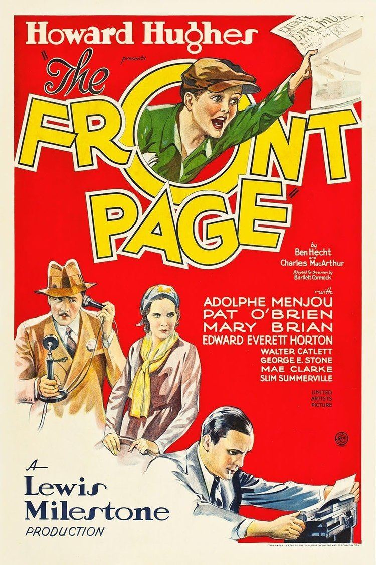 The Front Page (1931 film) wwwgstaticcomtvthumbmovieposters1114p1114p