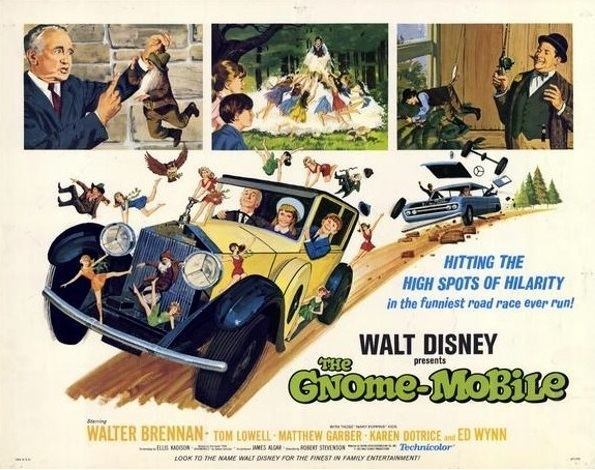 The Gnome-Mobile movie scenes The Gnome Mobile is a 1930 Rolls Royce Sedanca Deville automobile used in the Walt Disney Film The Gnome mobile 1967 It is currently housed in the