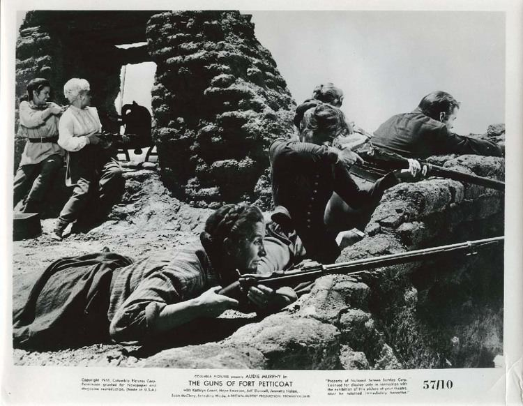 The Guns of Fort Petticoat Women shooting rifles The Guns of Fort Petticoat 8x10 1957