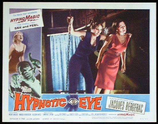 The Hypnotic Eye THE HYPNOTIC EYE Lobby card 8 1960 Jacques Bergerac HYPNOMAGIC