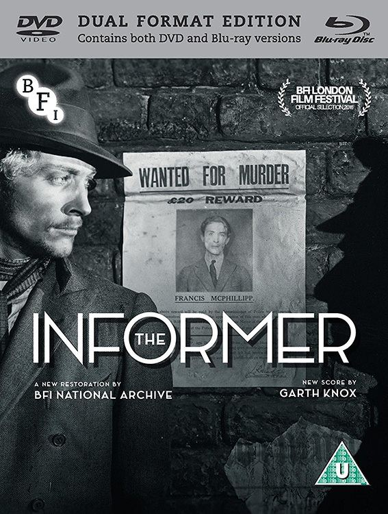 The Informer (1929 film) 1929 British classic The Informer on Dual Format in April Cine