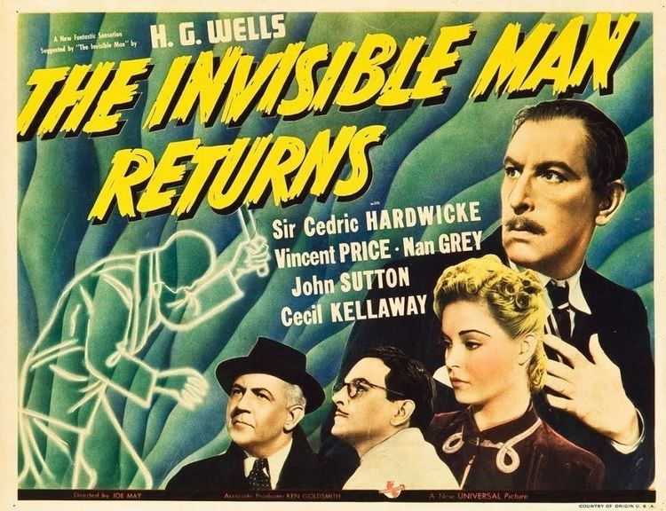 The Invisible Man Returns The Fantastic Films of Vincent Price 3 The Invisible Man Returns