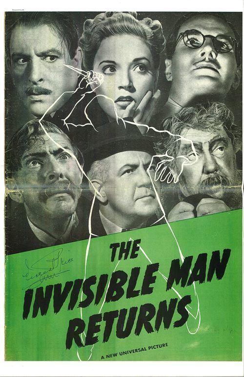 The Invisible Man Returns The Invisible Man Returns 1940 Pressbook From Zombos Closet