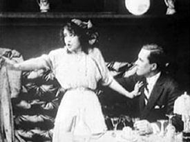 The Kiss (1914 film) Taylor and Gibson screen shot from The Kiss 1914 Margaret Gibson
