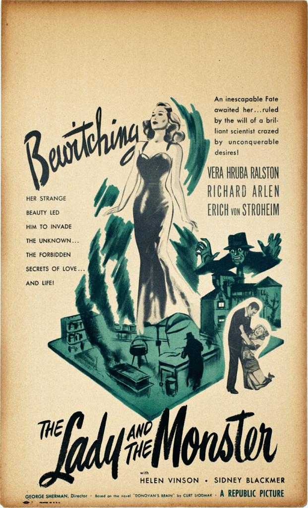 The Lady and the Monster The Lady and the Monster1944 Original Window Card
