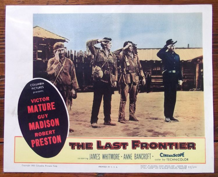 The Last Frontier (1955 film) The Last Frontier Lobby Card Western Anne Bancroft Victor Mature 55