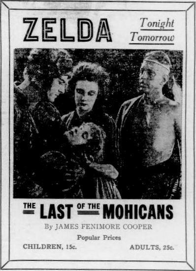 The Last of the Mohicans (1920 American film) FileThe Last of the Mohicans 1920 Ad 5jpg Wikimedia Commons