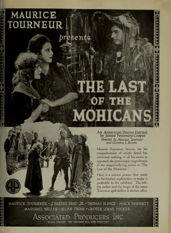 The Last of the Mohicans (1920 German film) FileThe Last of the Mohicans by Maurice Tourneur Film Daily 1920