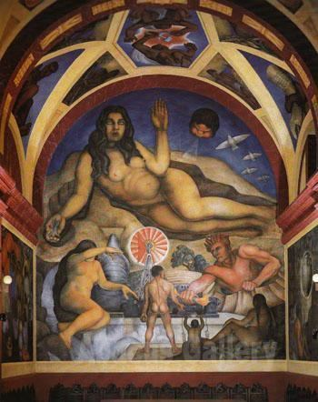 The Liberated Earth Diego Rivera The Liberated Earth with Natural Forces Controlled by