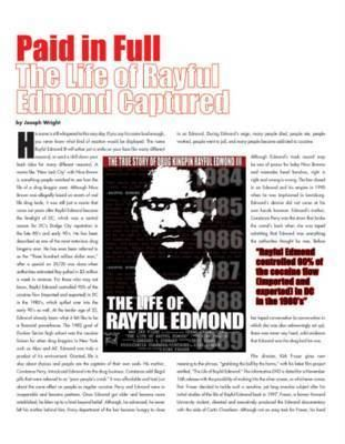The Life of Rayful Edmond Declassified Panache Report