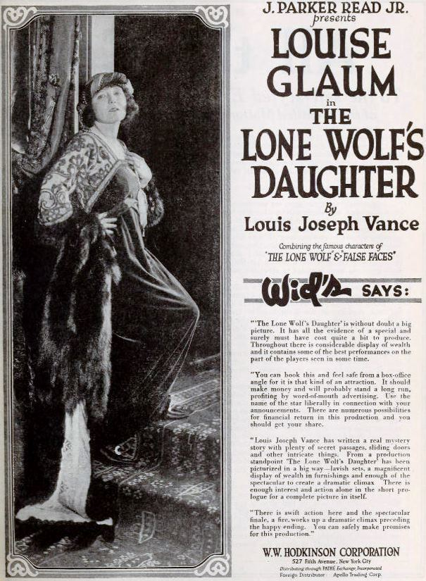 The Lone Wolf's Daughter FileThe Lone Wolfs Daughter 1919 4jpg Wikimedia Commons