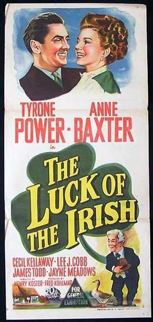 The Luck of the Irish (1948 film) THE LUCK OF THE IRISH Original Daybill Movie poster Tyrone Power