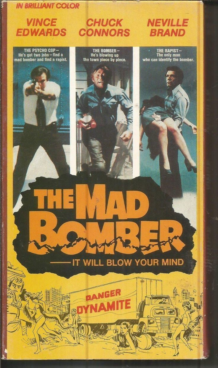 The Mad Bomber (1972 film) The Mad Bomber VHS Chuck connors Bombers and The ojays