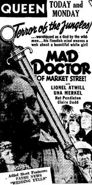 The Mad Doctor of Market Street The Mad Doctor of Market Street 1942 Universal Horror With Lionel