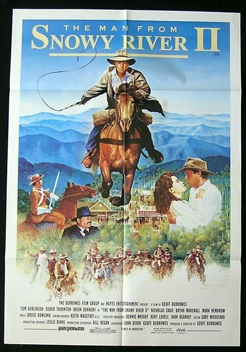MAN FROM SNOWY RIVER II One sheet Movie Poster Tom Burlinson