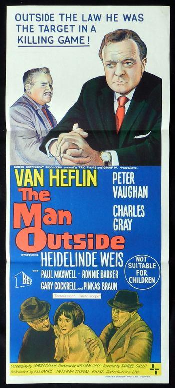 The Man Outside (1967 film) THE MAN OUTSIDE 1967 Van Heflin CRIME FILM NOIR Daybill Movie poster